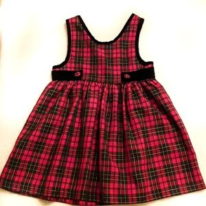 Holiday girls plaid dress